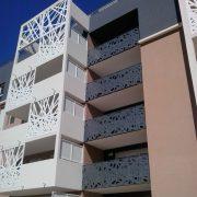 Sliding sunshades and balustrades