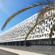 Parement de facade Collège de Millas