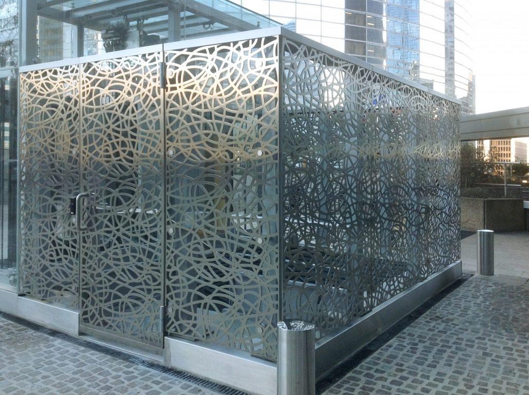 Parement de fa ade m tallique et parement de facade r sille - Habillage cage escalier ...